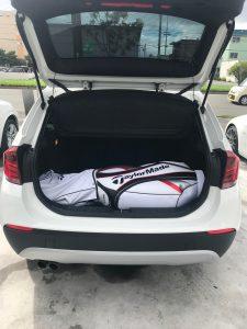 BMWにゴルフバック