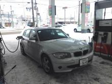 BMW 1シリーズと雪道
